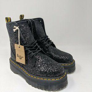 Dr. Martens Jadon Glitter Leather Platform Boots